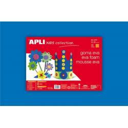 APLI Kids 12763 - EVA гума, едноцветна, синя - 1 лист 600x400 mm