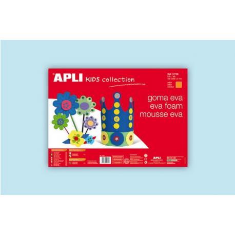 APLI Kids 12764 - EVA гума, едноцветна, светло синя - 1 лист 600x400 mm