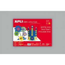 APLI Kids 12765 - EVA гума, едноцветна, сива - 1 лист 600x400 mm