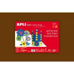 APLI Kids 12766 - Крафт EVA пяна, едноцветна, кафява - 1 лист 600x400 mm