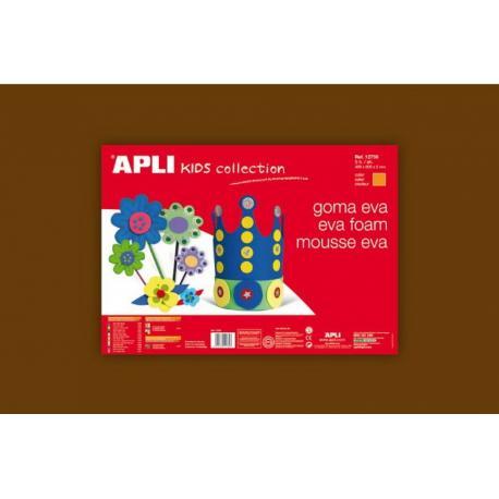 APLI Kids 12766 - EVA гума, едноцветна, кафява - 1 лист 600x400 mm