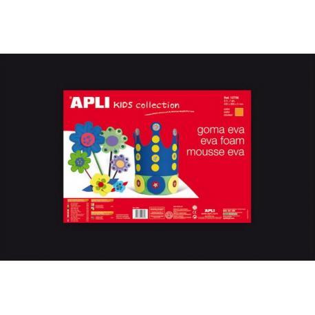 APLI Kids 12768 - EVA гума, едноцветна, черна - 1 лист 600x400 mm