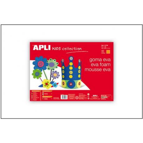 APLI Kids 12769 - EVA гума, едноцветна, бяла - 1 лист 600x400 mm
