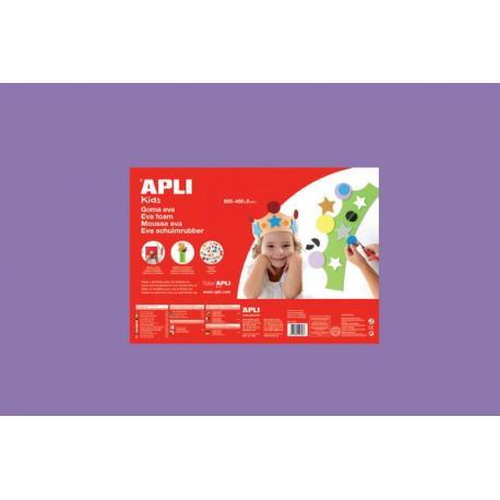 APLI Kids 12767 - EVA гума, едноцветна, лилава - 1 лист 600x400 mm
