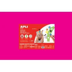 APLI Kids 13696 - Крафт EVA пяна, едноцветна, наситено розова - 1 лист 600x400 mm