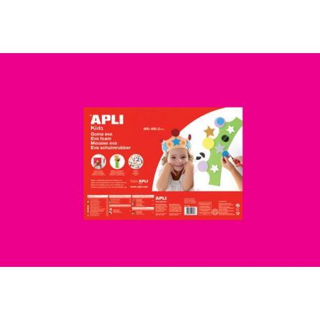 APLI Kids 13692 - EVA гума, едноцветна, наситено розова - 1 лист 600x400 mm
