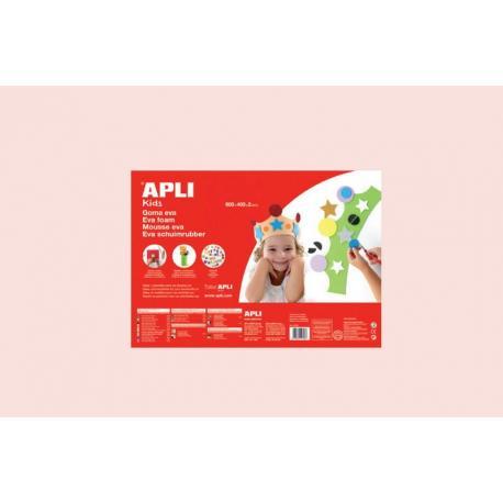APLI Kids 13347 - EVA гума, едноцветна, светла кожа - 1 лист 600x400 mm