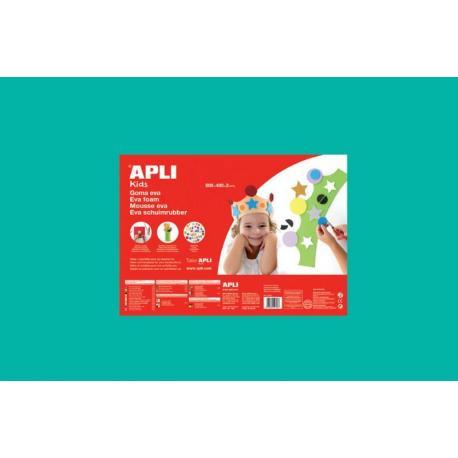 APLI Kids 13693 - EVA гума, едноцветна, тюркоаз - 1 лист 600x400 mm