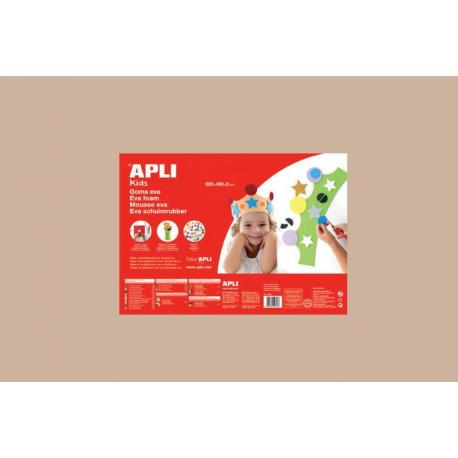 APLI Kids 13695 - EVA гума, едноцветна, светло кафява - 1 лист 600x400 mm
