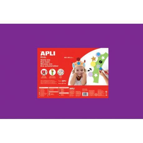 APLI Kids 13694 - EVA гума, едноцветна, виолетова - 1 лист 600x400 mm