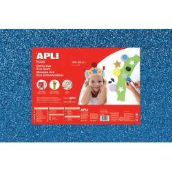 APLI Kids 13437 - Крафт EVA пяна, блестяща, синя - 1 лист 600x400 mm