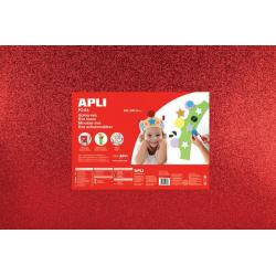 APLI Kids 13178 - Крафт EVA пяна, блестяща, червена - 1 лист 600x400 mm