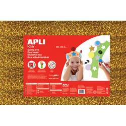 APLI Kids 13180 - Крафт EVA пяна, блестяща, златиста - 1 лист 600x400 mm