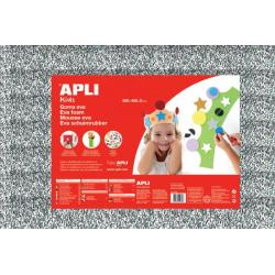 APLI Kids 13181 - EVA гума, блестяща, сребриста - 1 лист 600x400 mm