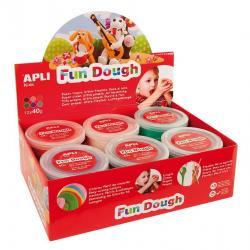 """APLI Kids 13451 Вълшебно """"тесто"""" за моделиране на фигурки за игра и декорация - комплект 12 кутии по 40 гр. - 6 цвята"""