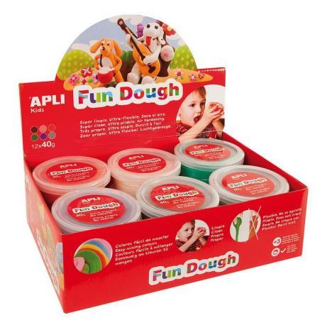 """APLI Kids 13451 Вълшебно """"тесто"""" - комплект 12 кутии по 40 гр. - 6 цвята"""