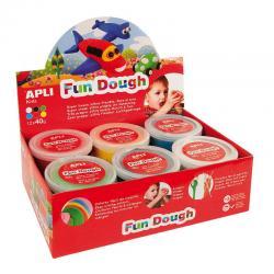 """APLI Kids 13450 Вълшебно """"тесто"""" за моделиране на фигурки за игра, декорация и украшения - комплект 12 кутии по 40 гр. - 6 цвята"""