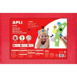 APLI Kids микропореста гума EVA с ефект на текстил с пайети - 1 лист 600x400 mm