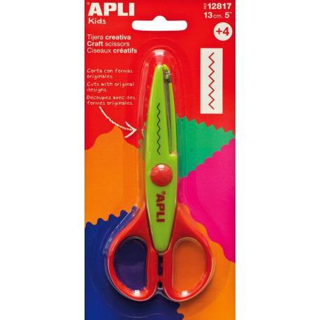 APLI Kids 12817 Ножица за декоративно рязане и приложни занимания - 13 cm