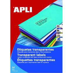 APLI 10968 водоустойчиви полиестерни етикети, матово прозрачни, за лазерни принтери и копирни машини