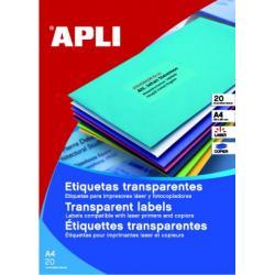 APLI 10969 водоустойчиви полиестерни етикети, матово прозрачни, за лазерни принтери и копирни машини