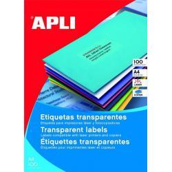 APLI 11919 водоустойчиви полиестерни етикети, матово прозрачни, за лазерни принтери и копирни машини